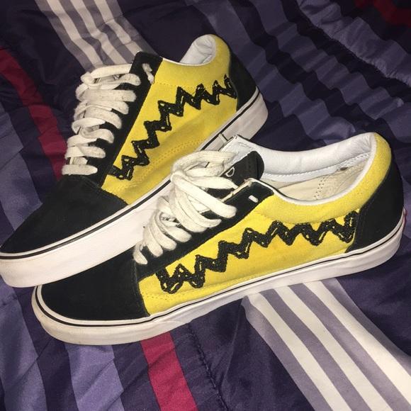 X Shoes Skool Poshmark Peanuts Old Vans nzTfP8wqPx